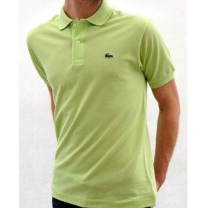 LACOSTE XXL 8 LIME GREEN POLO COLLARED SHIRT